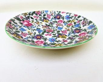 Vintage Chintz Plate   Large Chintz Saucer   Ambassador Ware Floral Plate   Decorative Plate