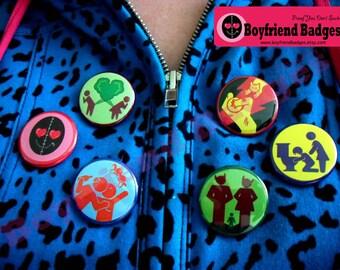 Boyfriend Badges- set of 6