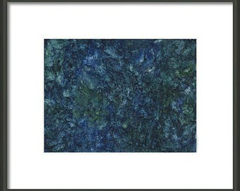 Mother's Day Gift Idea Instant Print Download 5x7 Print from Watercolor Sea Blue Sea Green Abstract for framing