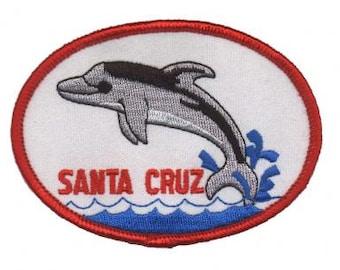 Santa Cruz Dolphin Patch - California (Iron on)