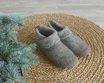 READY to SHIP size EU 40/us women's 9 Ethical shoes from natural eco wool, organic footwear