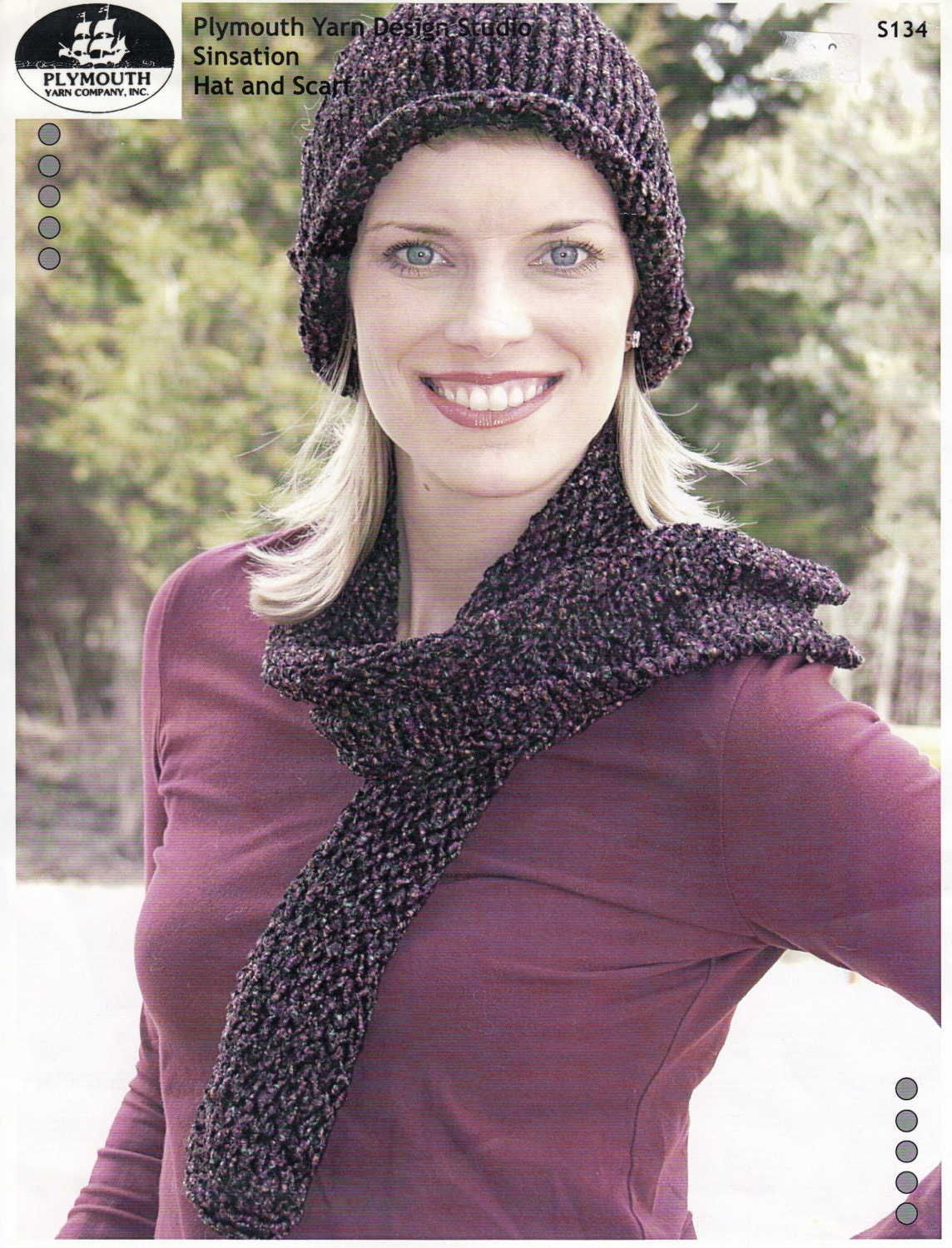 Rolled Brim Hat and Scarf Knitting Pattern - Knitted Hat and Scarf ...