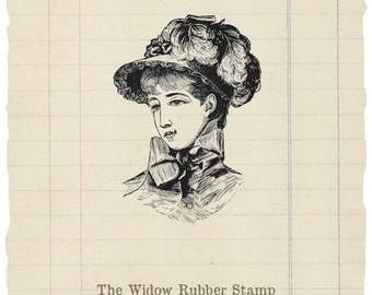 The Widow unmounted rubber stamp