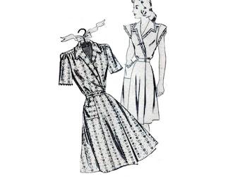 40s Wrap Front Dress pattern Wrap Dress pattern Fit and Flare Dress pattern vintage 36-30-39 Mail Order pattern Madeline 2705