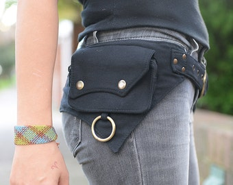 The Hipster, Cotton Utility Belt, Festival Belt, Pocket Belt, Bum Bag, Hip Bag, Festival Fanny Pack//SALE//