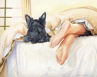 Scottie Feet A Limited Edition Scottish Terrier Print