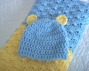Baby Yellow Blue Blanket