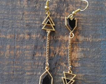 Gold Toned Arrow Earrings