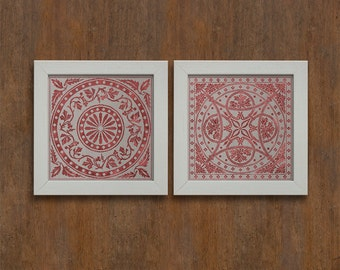 The Minster Patterns: Chapter House Tiles - Cross Stitch Pattern - Instant Download PDF Booklet