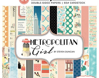 6x6 Echo Park Paper Pad - Metropolitan Girl