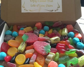 Personalised pick & mix sweet gift box