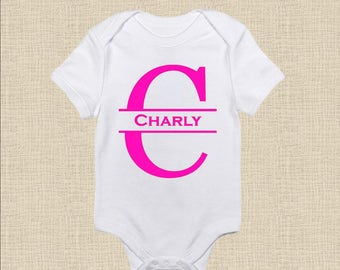 Custom onesies etsy personalized baby onesie t shirt split letter name baby gift baby shower gift personalized name custom onesiet shirt negle Image collections