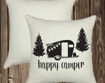 Happy Camper Pillow Case