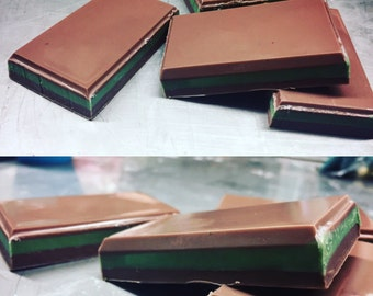 Chocolate Mint Layered Soap Andes-style Dessert Candy Soaps