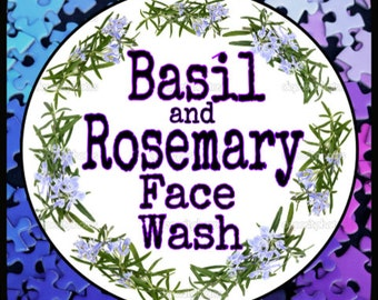 Basil & Rosemary Face Wash