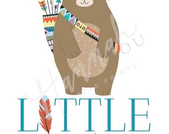 Little Bear print **Can be personalised**