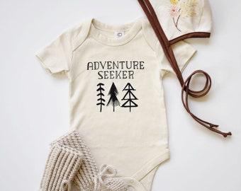 Adventure Seeker Baby Bodysuit - Organic Bodysuit, Organic Children's Clothing