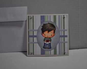 Boys Blank Card Handmade Birthday