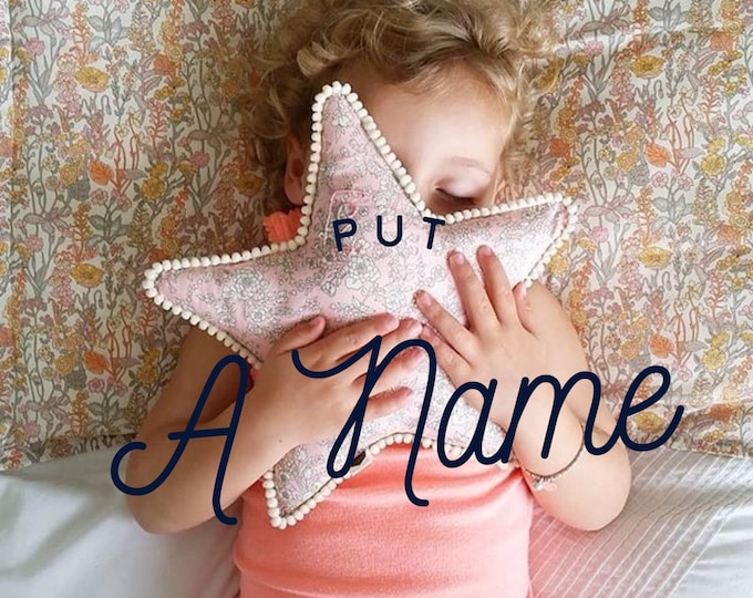 ADD A NAME to a Star Pillow