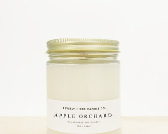APPLE ORCHARD Candle, Fall Candle, Autumn Candle, Macintosh Apple Candle, Rustic Candle, Farmhouse Candle | Wholesale, Bulk Order