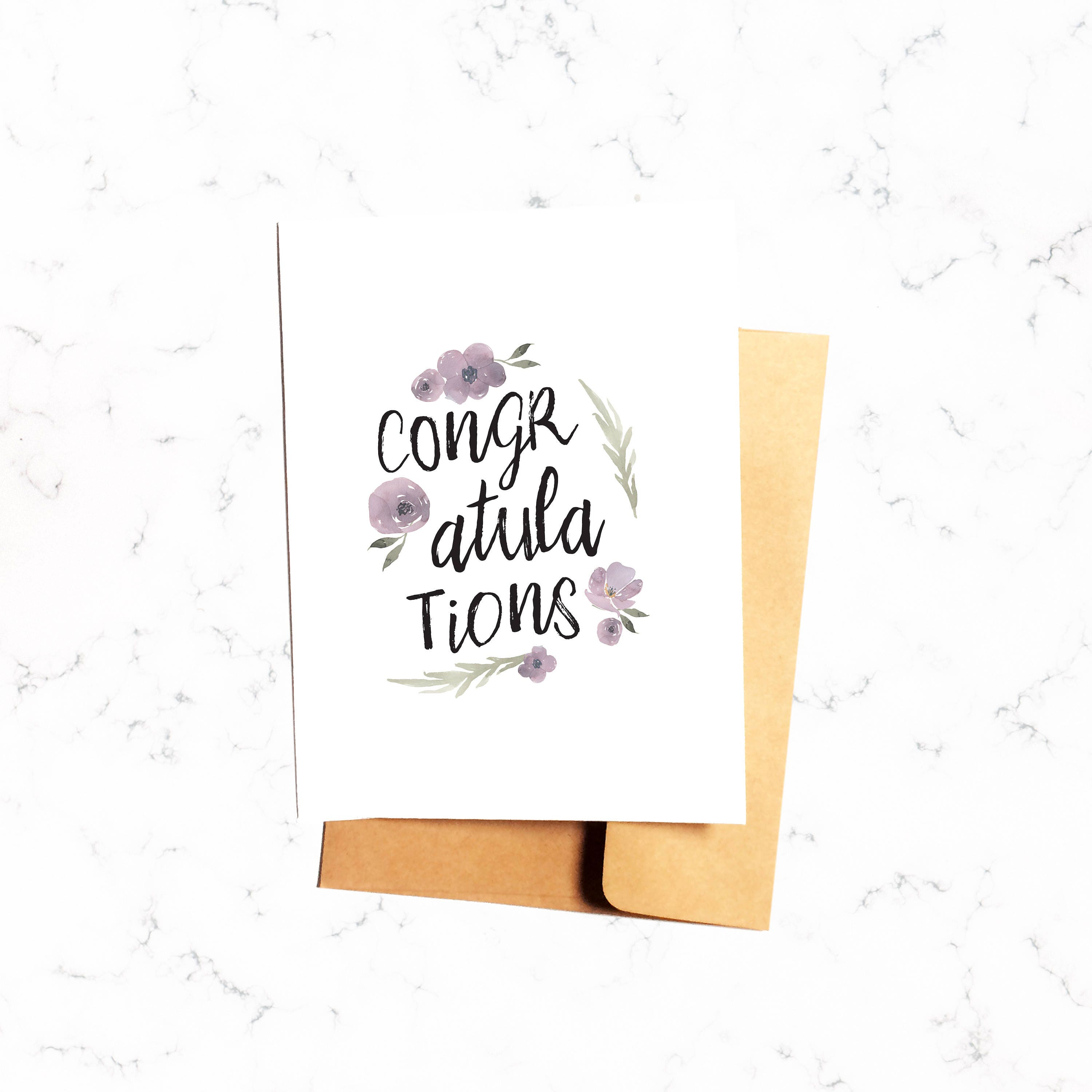 Congratulations Card Congrats Greeting For Her Baby Shower