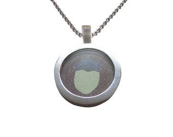 Pale Green Acorn Pendant Necklace