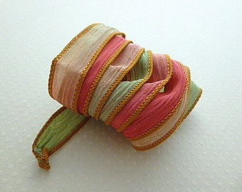 Ribbon color No. 949 hand dyed silk