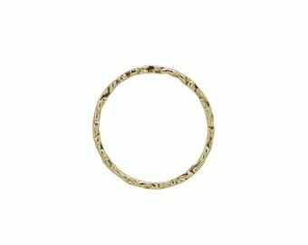 Gold Filled Hammered Round Link 25 mm  5pcs, 10pcs, 25pcs Item# (HL202211)