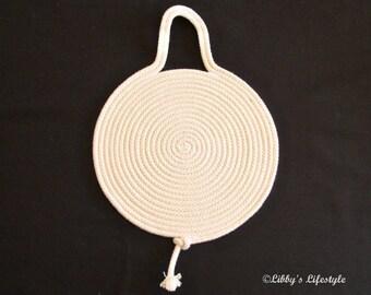 Rope Trivet - Handmade - Hot pad - Hot mat - Pot stand - Pot mat - Kitchen trivet - Hot pot pad - Rope Hot pad - Table protector.