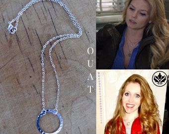 Emma Swan Necklace, OUAT Necklace, Silver Infinity Circle Necklace, Cosplay Necklace, Emma Swan Circle Necklace, Mother's Day, Gift Idea