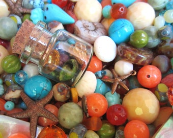Kea Lani Maui Mermaid Semi Precious Bead and Pendant Mix with Czech Glass from Dream Girl Beads