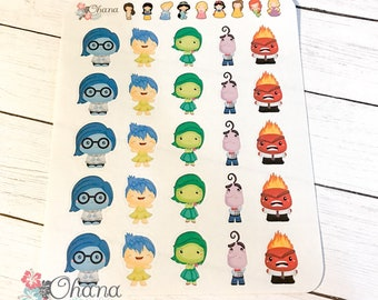 Inside Out Planner Stickers ~ Disney Inspired | Life Planner | EC | Erin Condren | Limelife | Inkwell | Plum | Kikki | Decorative | Movie
