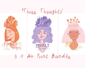 Three Thoughts - 3 x A4 Print Bundle