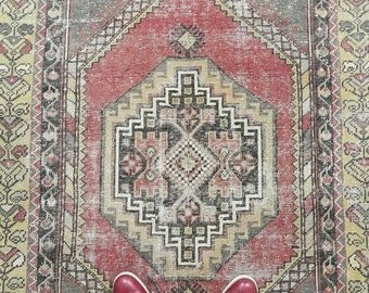 Oushak Rug Turkish Area Rug Antique Rug FREE SHIPPING! / 45'' x 80''