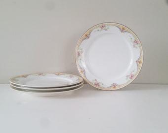 Vintage Floral Plates (4) Vintage Floral Dishes Vintage Plate Floral China Floral Plates Floral Decor Vintage Decor Vintage serving