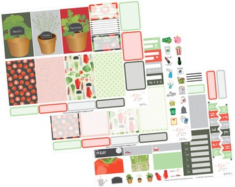 Big Happy Planner Stickers / Garden Stickers / Planner Stickers / Gardening Planner Stickers / Weekly Sticker Kit / Vegetable / BHP76