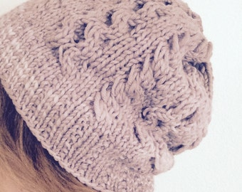 Malabrigo Twist Cable Beanie Knitting Pattern