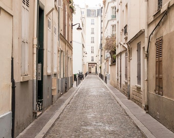 Paris Photography - Passage Jean Nicot, Neutral Urban Home Decor, Large Wall Art, French Architecture, Home Decor