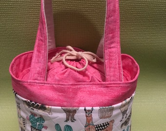 Insulated Drawstring Lunch Bag