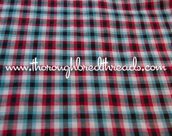 Mad About Plaid - Vintage Fabric Multi-Colored Checked 36 in wide 50s 60s