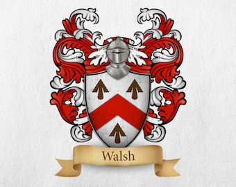 Walsh Family Crest - Print