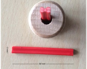 Red Bow polymer cane