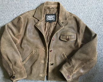 Roughout leather jacket