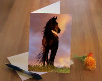 Beautiful Horse Fine Art Thinking of You Card