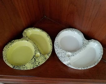 Lane & Co Van Nuys California Pottery Ash Tray And Beverage Holders Pair