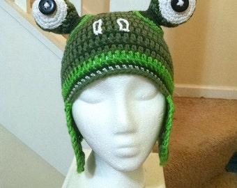 Caleb's Frog Hat