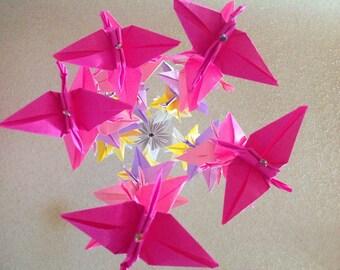 Origami Crane Mobile - Cranes ombre mobile- Children Decor- Baby Mobile - Nursery Homes