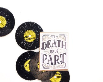 Til Death Do Us Part - Letterpress Card