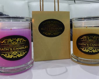 Candle DUO - 100% Soy Wax Candles - Hand poured - Australian Made