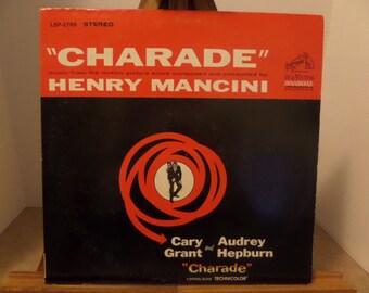 Henry Mancini Charade soundtrack record album LP